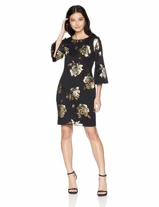 Jessica Howard JessicaHoward Women's Bell Sleeve Sheath Dress
