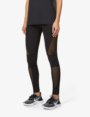 Redemption Athletix Patterned mid-rise stretch-recycled polyamide leggings