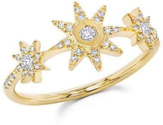 Ron Hami Starstruck 14k Diamond 3-Station Ring
