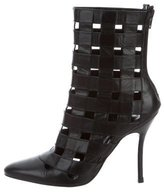 Manolo Blahnik Cage Ankle Boots
