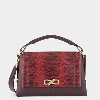 Anya Hindmarch Snake-Print Rope Bow Bag