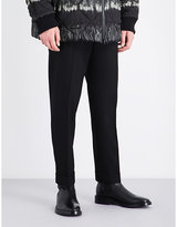 Dries Van Noten Black Buttoned Comfortable Philip Straight Regular-fit Wool Trousers