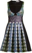 Mary Katrantzou Narcisse circle-jacquard dress