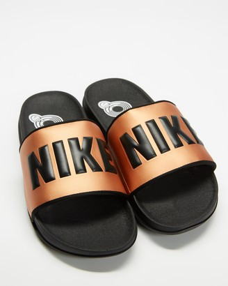 Nike Women's Black Slides - Offcourt Slides - Women's - Size 5 at The Iconic