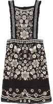 Needle & Thread Embellished Georgette Mini Dress - Black