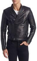 Diesel Black Gold Quilted Leather Biker Jacket