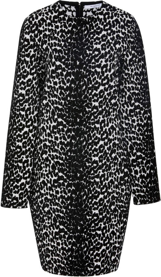 Givenchy Leopard-Print Stretch-Knit Mini Dress