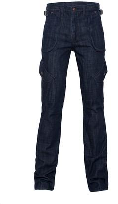 Japanese Denim Boot Cut Combat Jeans - Blue