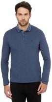 Wrangler Blue Long-sleeved Polo Shirt