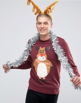 Jack & Jones Christmas Sweatshirt With Print