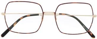 Oliver Peoples Oversized Rectangle Frame Glasses