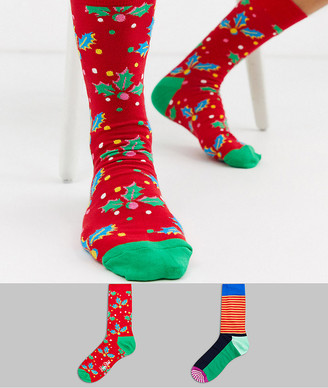 Happy Socks vacation cracker 2 pack socks in gift box