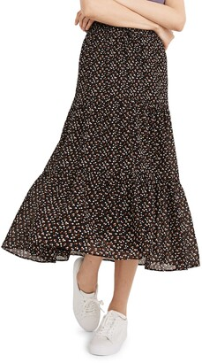 Madewell Tiered Ruffle Maxi Skirt