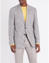 Armani Collezioni Check-print Regular-fit Woven Jacket