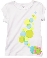 Carter's Baby Girls' White Bubbles Tee
