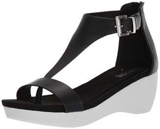 Kenneth Cole Reaction Women's Nice Gal Platform T-Strap Sandal Wedge