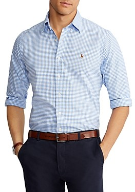 Polo Ralph Lauren Cotton Gingham Plaid Classic Fit Oxford Shirt