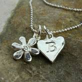 Nest Personalised Solid Silver Daisy Charm Necklace