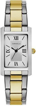 Bulova Caravelle by Women's Stainless Rectangle Case Watch
