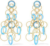 Buccellati Hawaii 18-karat Gold Chalcedony Earrings - one size