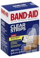 Johnson & Johnson Band-Aid® 45-Count Assorted Clear Bandages