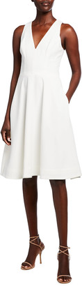 Dress the Population Catalina V-Neck Swing Dress