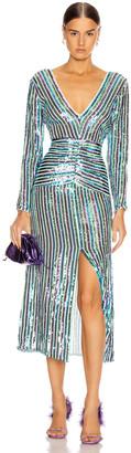 Rixo Emmy Dress in Multistripe Sequin | FWRD
