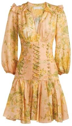 Zimmermann Amelie Floral Corset Dress