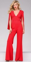 Jovani V-Shape Wide Leg Jumpsuit
