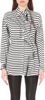 McQ by Alexander McQueen Printed waist-tie shirt