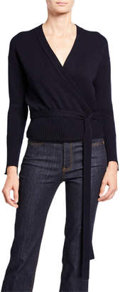Helmut Lang Cashmere Long-Sleeve Wrap Cardigan
