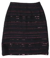 Chanel Wool Sequin-Accented Skirt
