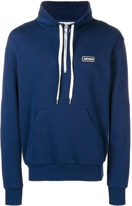 Ami Paris Patch Half-Zipped Sweatshirt