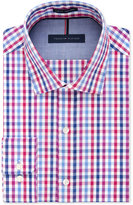 Tommy Hilfiger Slim-Fit Non-Iron Raspberry Multi Check Dress Shirt