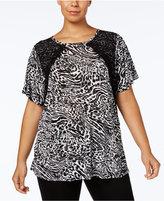 MICHAEL Michael Kors Size Lace-Trim T-Shirt