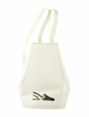 Salvatore Ferragamo Patent Leather Backpack White