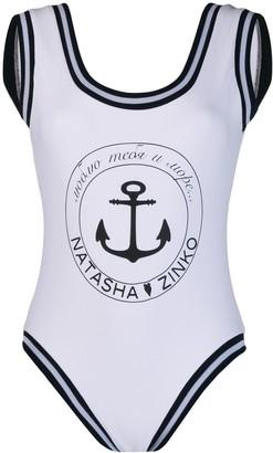 Natasha Zinko Anchor printed swimsuit