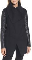 Mackage Women's Vane Asymmetrical Leather Sleeve Coat