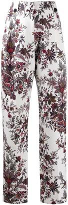 Paco Rabanne High-Waist Paisley Print Trousers