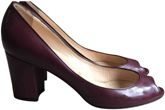 Christian Louboutin Burgundy Patent leather Heels