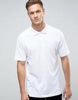 Asos Oversized Pique Polo Shirt In White