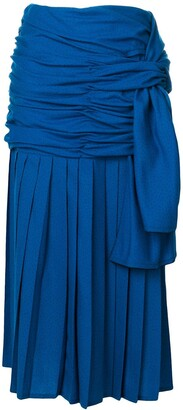 Versace Pre-Owned draped midi skirt