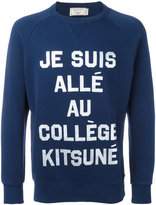MAISON KITSUNÉ 'je suis' print sweatshirt - men - Cotton - M