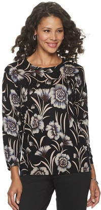 Women's Cathy Daniels Floral Crewneck Sweater