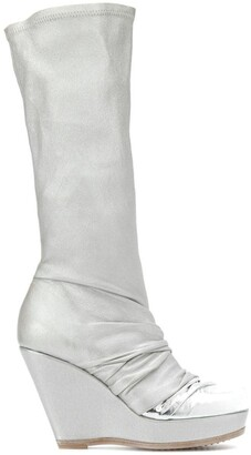 Rick Owens Wedged Mid-Calf Boots