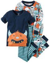 Carter's Boys 4-8 4-Piece Monster Pajamas