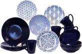 JCPenney Baum Blue and White 16-pc. Dinnerware Set