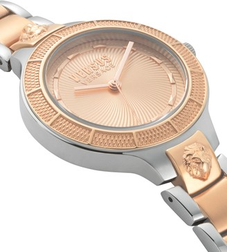 Versace Claremont Two-Tone Stainless Steel Bracelet 3-Hand Watch