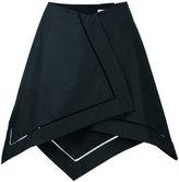 J.W.Anderson asymmetric hem skirt - women - Cotton - 8