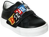 DSQUARED2 Logo Patches Leather Sneakers